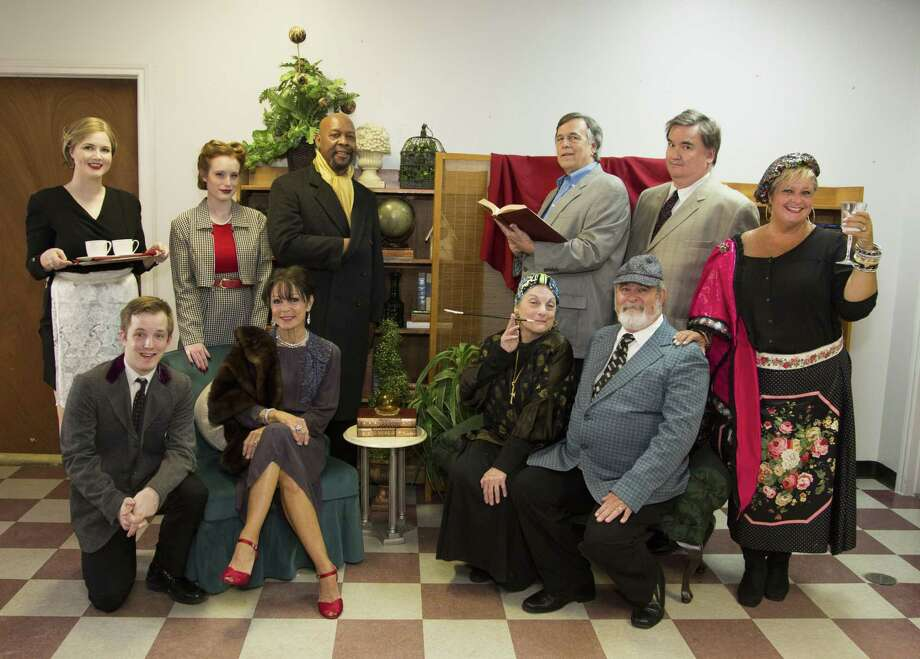 "The cast of The Players Theatre Company's ""The Musical Comedy Murders of 1940"" which opens on June 29 at the Owen Theatre. Bottom row from left are Kevin Downs, Cheryl Campbell, Terry Lynn Hale and Dale Trimble. Back row from left are Megan Nix, McKenna Hartlein, Art Stringer, David Herman, Mike Ragan and Kelley Luke Trimble. Visit owentheatre.com or call 936-539-4090 for tickets. Photo: Courtesy Photo"