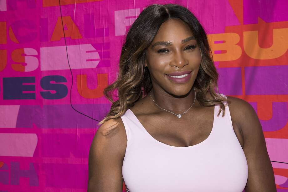 Professional tennis player Serena Williams appears at an event to launch a national street art campaign with Allstate Foundation Purple Purse to make domestic violence and financial abuse visible, at TicTail Market on Wednesday, June 20, 2018, in New York.  (Photo by Charles Sykes/Invision/AP) Photo: Charles Sykes / Associated Press