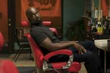 """This image released by Netflix shows Mike Colter in a scene from """"Marvel's Luke Cage,"""" premiering its second season on June 22. (David Lee/Netflix via AP)"""