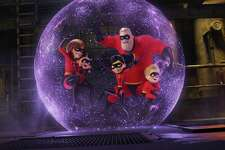 "This image released by Disney Pixar shows a scene from ""Incredibles 2."""