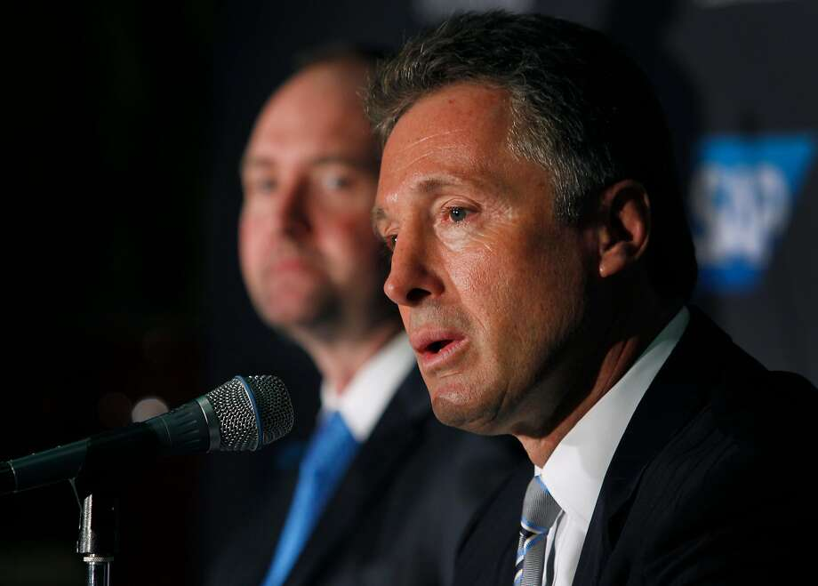 Sharks GM Doug Wilson made a coaching change in December, but the team's continued struggles make a playoff run unlikely and signal that changes are likely before next season. Photo: Paul Chinn / The Chronicle 2015