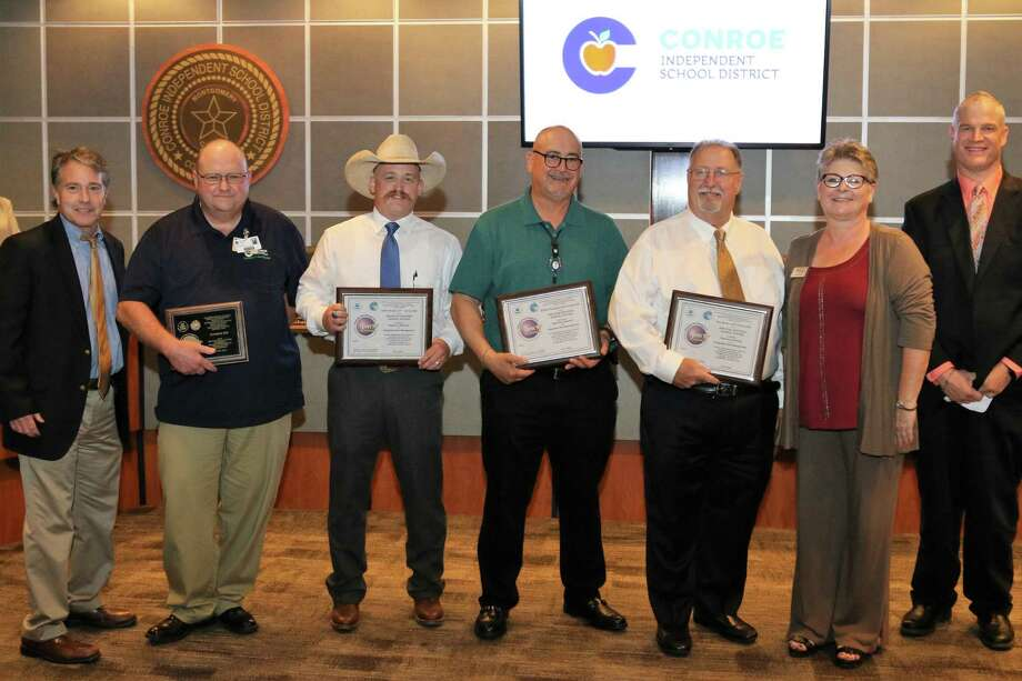 IPM awards presentation at the CISD Board Meeting on June 19 Photo: Conroe ISD Submitted Photo / Conroe ISD Submitted Photo