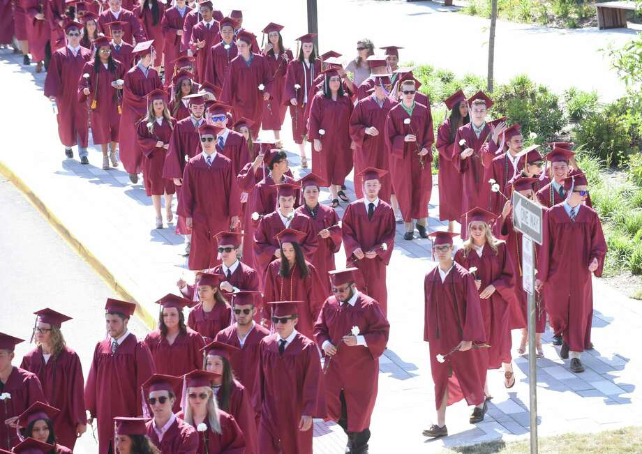 North Haven High School graduation ceremonies on June 21, 2018. Photo: Arnold Gold, Hearst Connecticut Media / New Haven Register