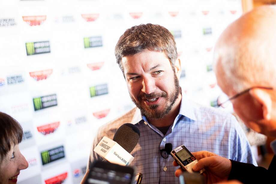 NASCAR driver Martin Truex Jr., who will race in the Toyota/Save Mart 350 at Sonoma Raceway, fields questions. Photo: Noah Berger / Special To The Chronicle