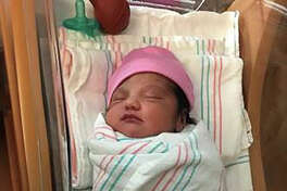 League City Police Officer Jason Carty delivered baby Camila on the evening of Tuesday, June 19, 2018, in the parking lot of AMOCO Federal Credit Union's Bay Colony Branch.
