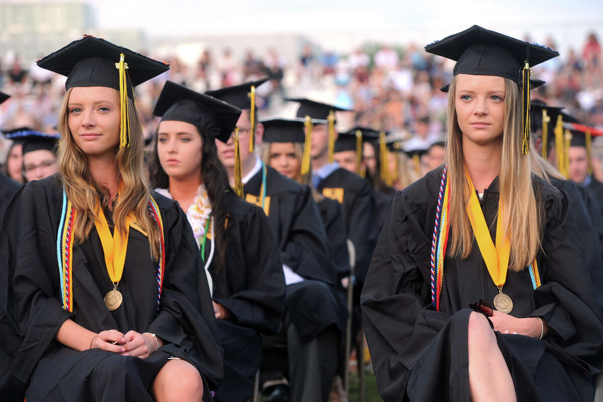 Commencement Exercises for the Trumbull High School graduating class of 2018, in Trumbull, Conn. June 21, 2018.