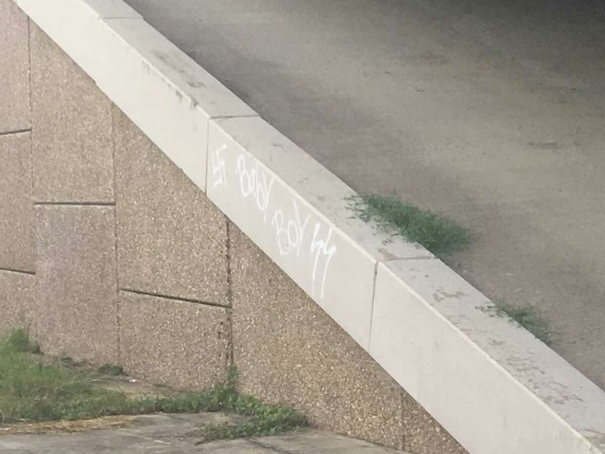 Police in Patton Village, north of Housotn, are investigating Nazi graffiti underneath a U.S. 59 overpass on Thursday, June 21, 2018. Anyone with information about the vandalism is asked to call the Patton Village Police Department at 281-689-9511 or the Montgomery County Sheriff's Office dispatch at 936-760-5800