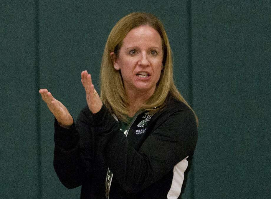 The Woodlands Christian Academy head coach Kori Parker watches drills during volleyball practice, Tuesday, Nov. 7, 2017, in The Woodlands. Photo: Jason Fochtman, Staff Photographer / Houston Chronicle / © 2017 Houston Chronicle