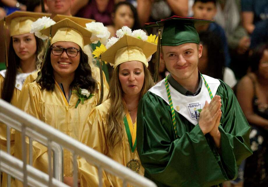 Emmett O'Brien Technical High School's Class of 2018 Graduation Ceremony in Ansonia, Conn., on Thursday, June 21, 2018. Photo: Christian Abraham, Hearst Connecticut Media / Connecticut Post