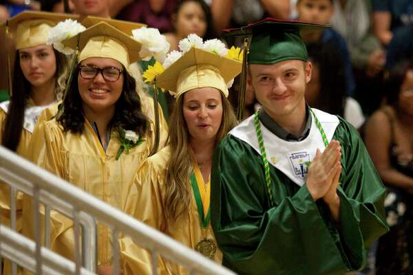 Emmett O'Brien Technical High School's Class of 2018 Graduation Ceremony in Ansonia, Conn., on Thursday, June 21, 2018.