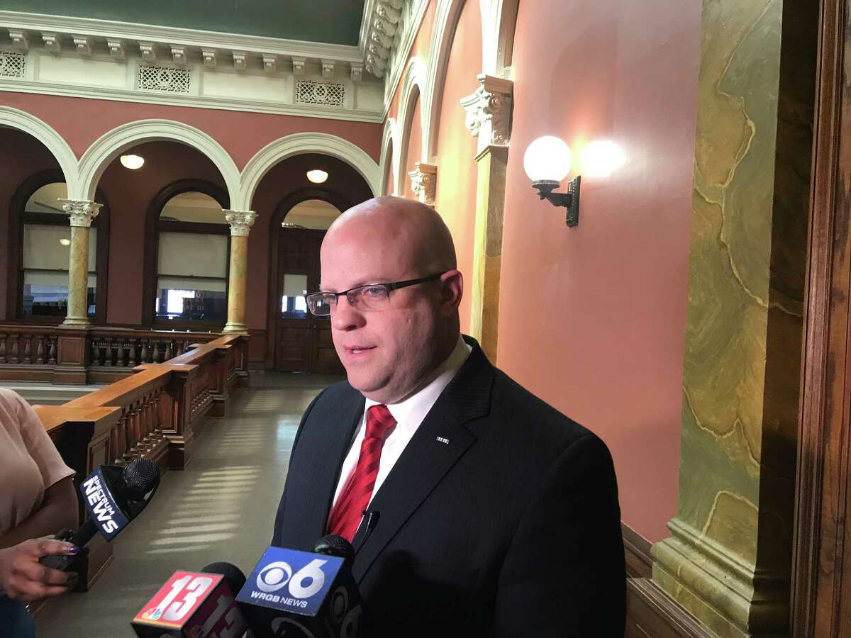 Rensselaer County District Attorney Joel E. Abelove speaks at a press conference Monday at the Rensselaer County Court House about the dismissal of a criminal indictment against him. (June 11, 2018, Troy, N.Y.)
