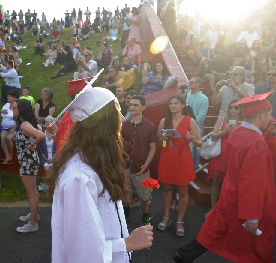 Masuk High School Class of 2018 Graduation. Thursday, June 21, 2018, at Masuk High School, Monroe, Conn. Photo: H John Voorhees III, Hearst Connecticut Media / The News-Times