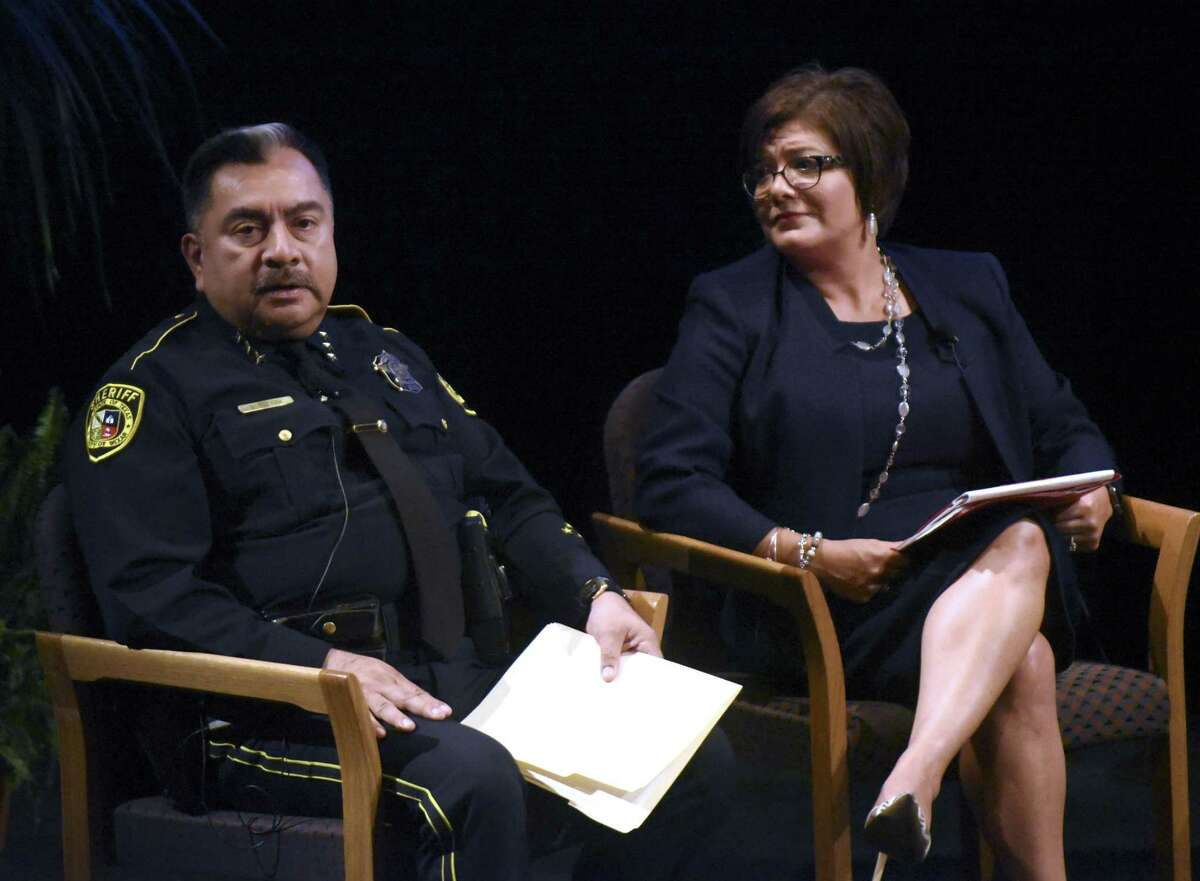 Don Tijerina (left), chief deputy at Bexar County Sheriff's Office, tendered his resignation Wednesday, February 27, 2019.