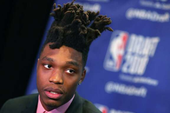 NEW YORK, NY - JUNE 20:  NBA Draft Prospect Lonnie Walker IV speaks to the media before the 2018 NBA Draft at the Grand Hyatt New York Grand Central Terminal on June 20, 2018 in New York City.  (Photo by Mike Lawrie/Getty Images)