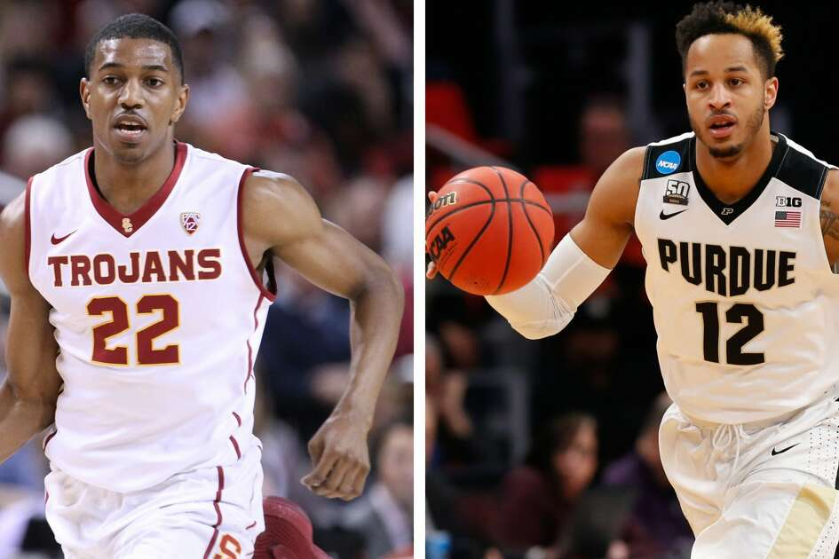 Split photo of USC's De'Anthony Melton and Purdue's Vincent Edwards.
