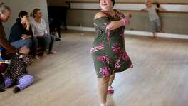 Olivia Byers-Straus teaches a dance class at Steppin� Out Dance Studio in San Francisco on Tuesday, May 15, 2018.