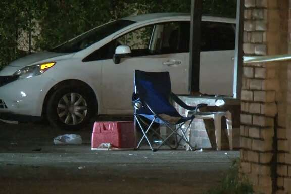 A homeless man was shot on Hirsch in northeast Houston on Thursday, June 21, 2018.