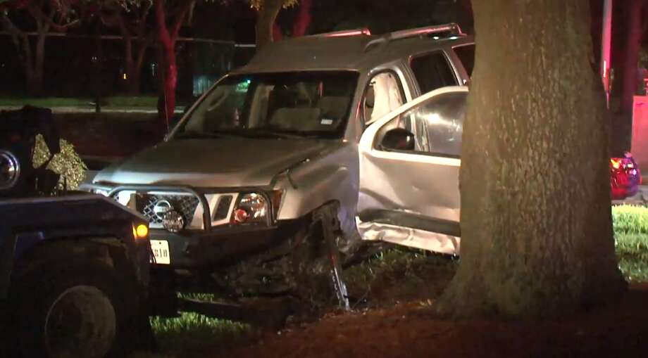 One person was injured after a crash in the Westchase District on Friday, June 22, 2018. Photo: Metro Video