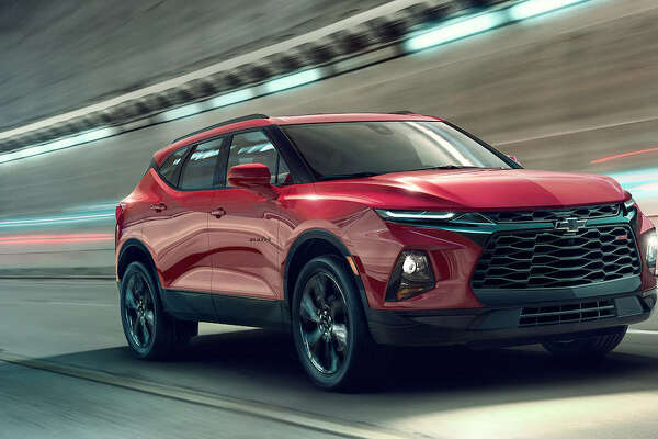 2019 Chevrolet Blazer RS is seen in action.