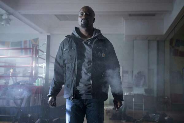 "This image released by Netflix shows Mike Colter in a scene from ""Marvel's Luke Cage,"" premiering its second season on June 22."