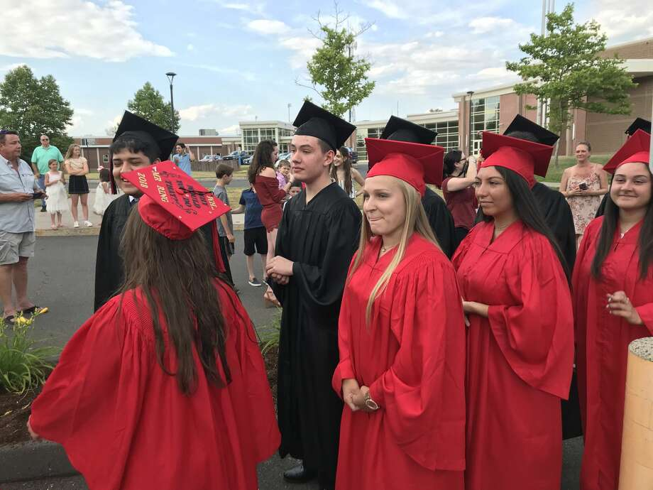 Portland High School graduated its Class of 2018 on Thursday, June 21, 2018. Photo: Jeff Mill / Hearst Connecticut Media