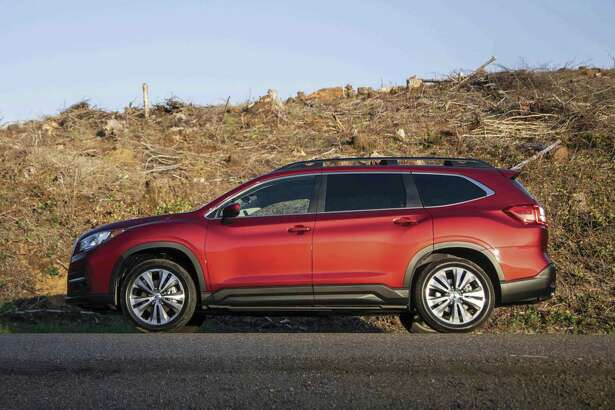 The 2019 Subaru Ascent three-row SUV has standard all-wheel-drive, 8.7 inches of ground clearance and 19 cupholders.