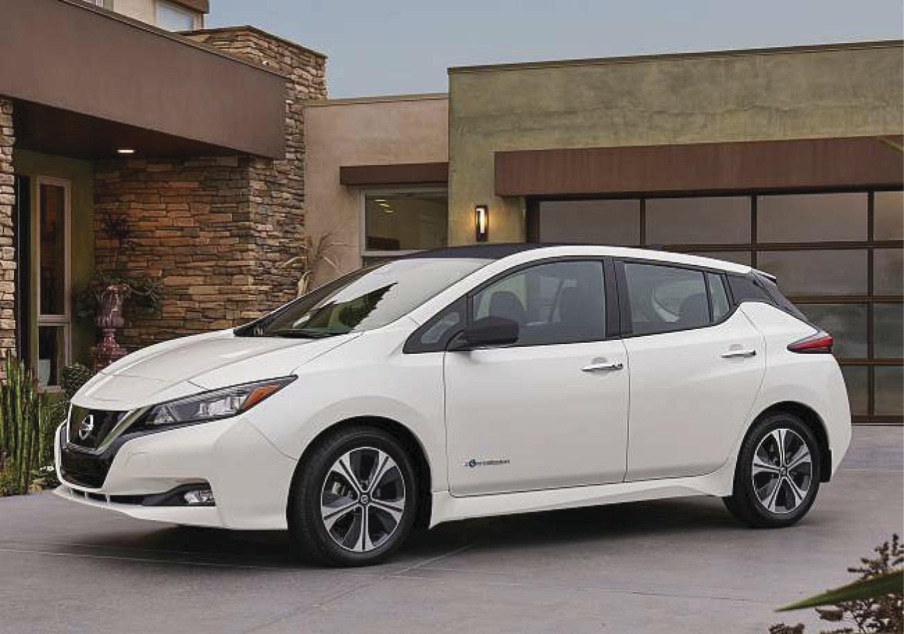 2018 Nissan Leaf has extendedrangeon full charge to about 150 miles
