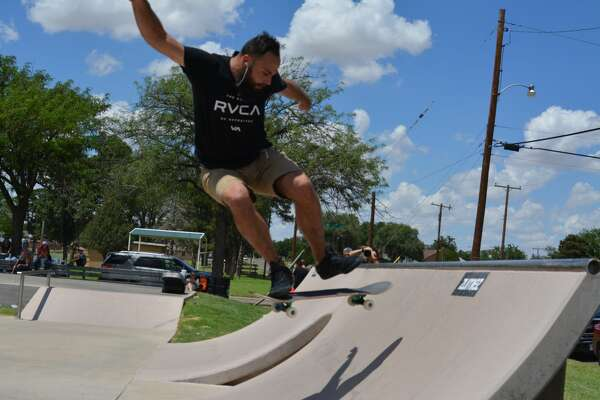 Skateboarders and spectators gathered from around the area to compete in and check out the annual skateboarding contest in Plainview on National Skateboarding Day. The contest was broken up into divisions for beginning, intermediate and advanced skaters.