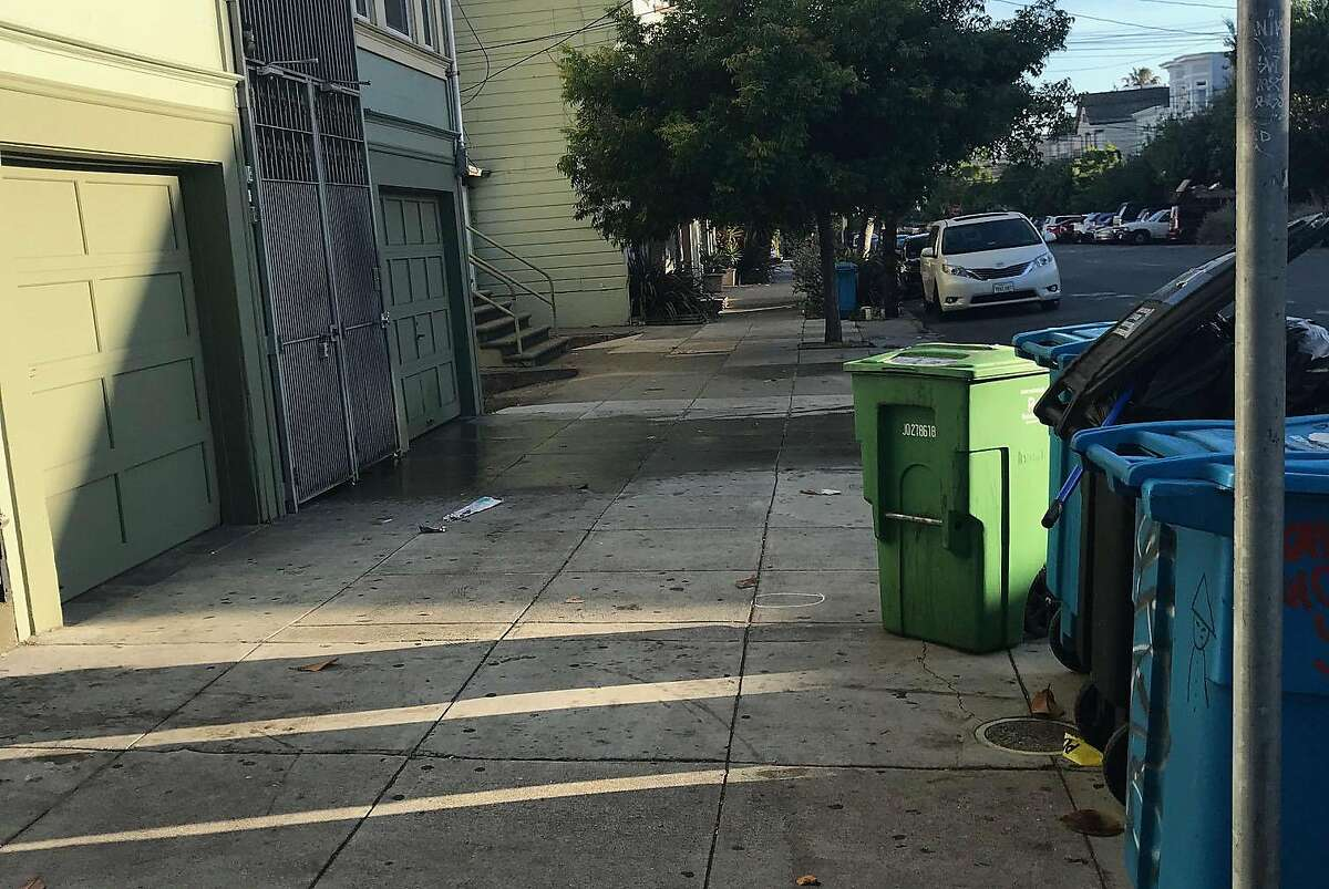 An early morning shooting Friday on the 2700 block of Harrison Street in San Francisco�s Mission District left one person dead and another seriously injured, authorities said. A piece of crime scene tape remained on the scene Friday morning under some garbage cans.