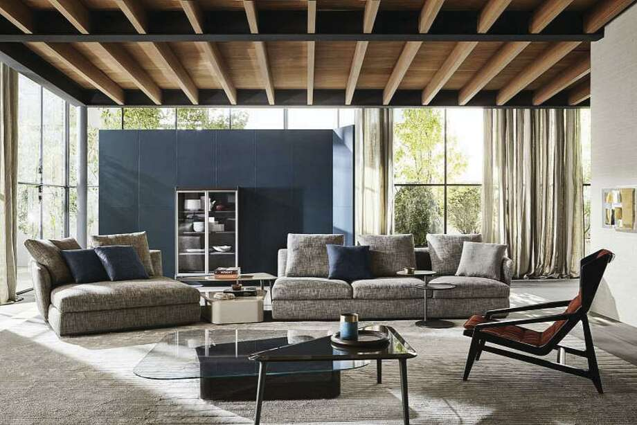 Molteni\u0026C\u0027s Sloane design sofa takes center stage in this setting. & On the Market/Condo Life: Luxury furnishings complete the high-rise ...