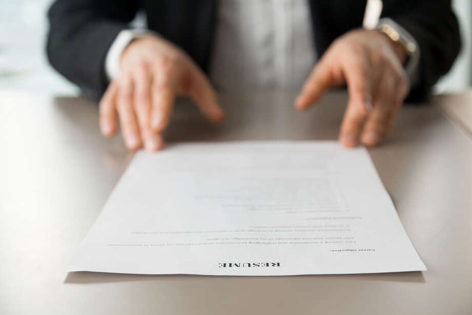 The Blvd resume photo shows someone reading a resume.