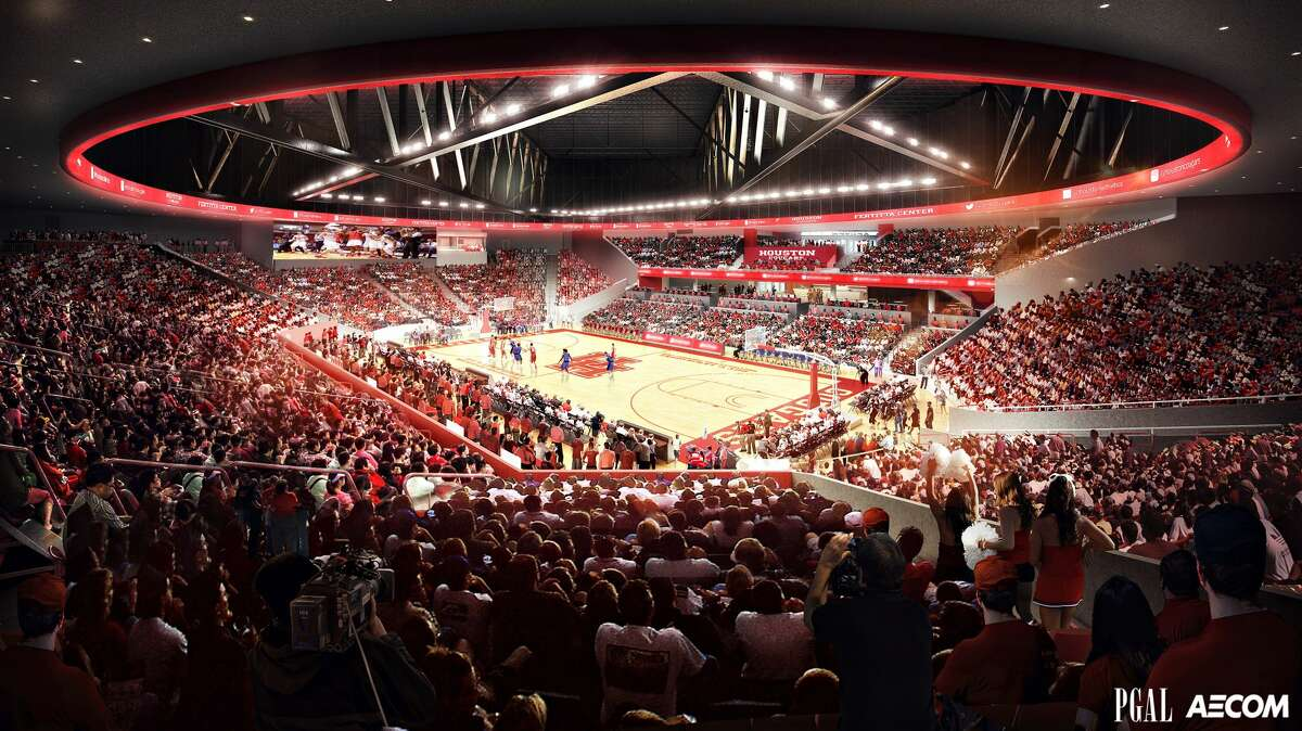 Ahead of the late 2018 opening of the $60 million Fertitta Center, formerly the Hofheinz Pavilion, a handful of renderings have been released of what the final product should look like on the University of Houston campus.