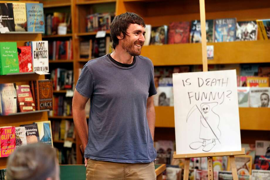 """Oakland cartoonist Jason Novak celebrates the release of his book, """"Et Tu, Brute?"""" at East Bay Booksellers in Oakland. Photo: Scott Strazzante / The Chronicle"""
