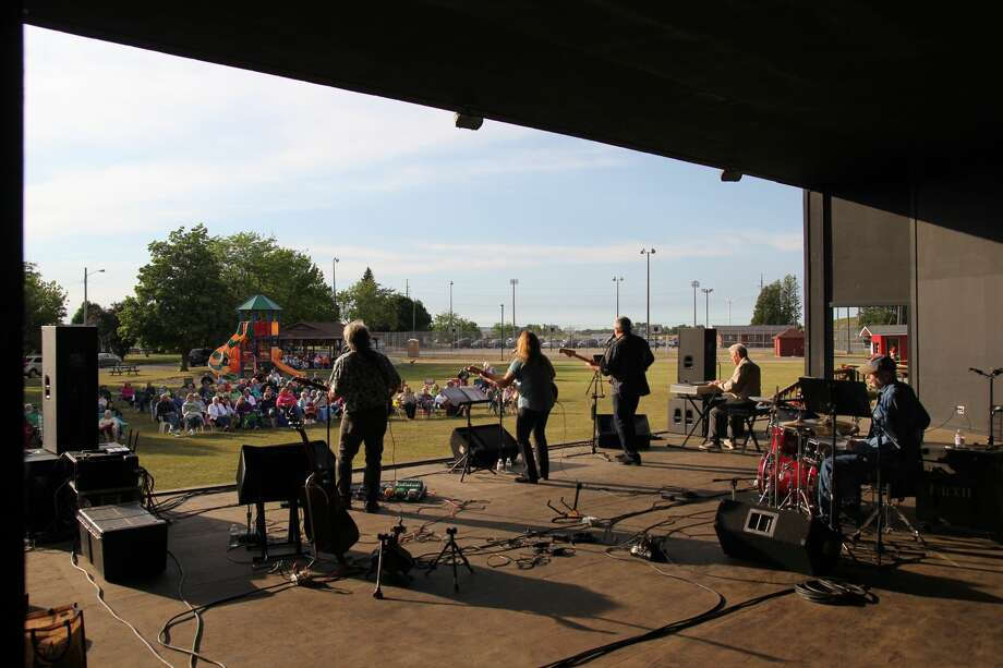 Laurie and the Lefties kicked off the Pigeon Band Shell series Thursday. Photo: Mike Gallagher/Huron Daily Tribune