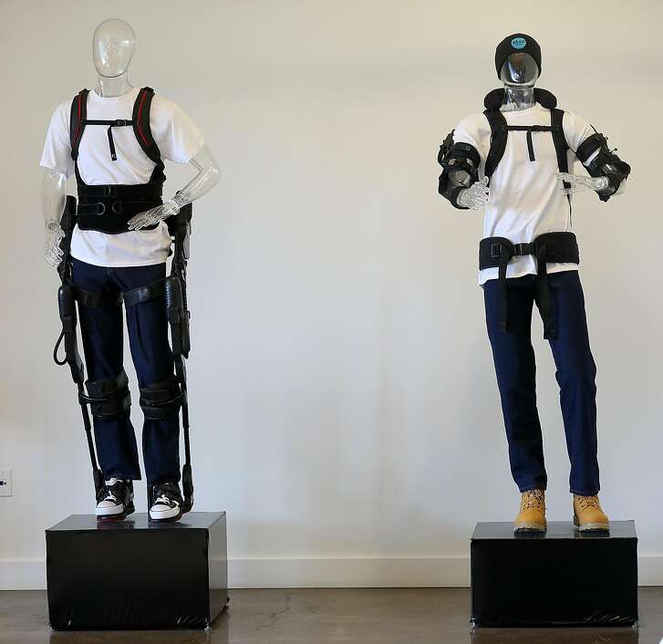 Demonstration room with display models seen at Ekso Bionics who make robotic, computer-controlled systems on Wednesday, June 20, 2018 in Richmond, Calif.