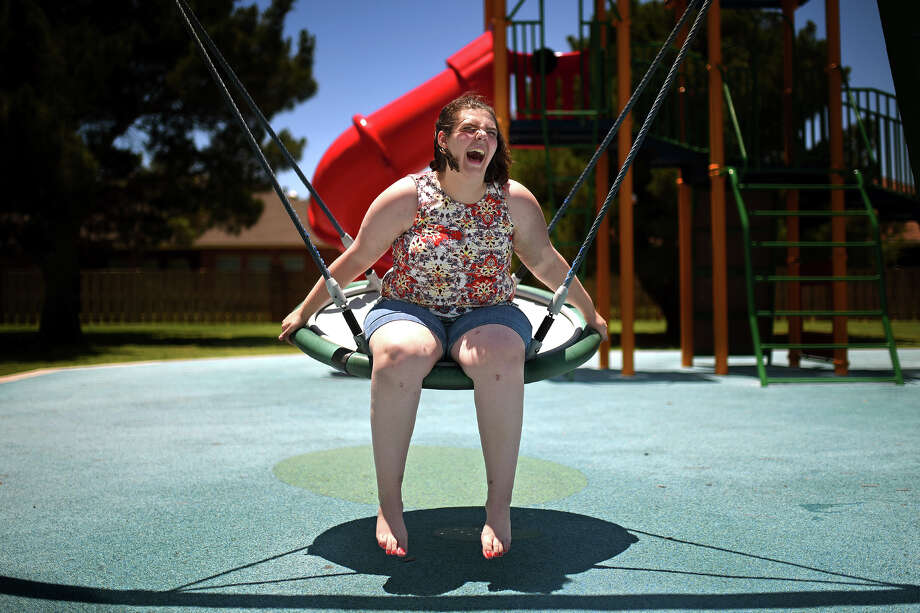 Audrey Balch, photographed June 22, 2018 at Pioneer Park, recently had her last round of chemotherapy to beat Leukemia,  June 22, 2018, at   James Durbin/Reporter-Telegram Photo: James Durbin / © 2018 Midland Reporter-Telegram. All Rights Reserved.