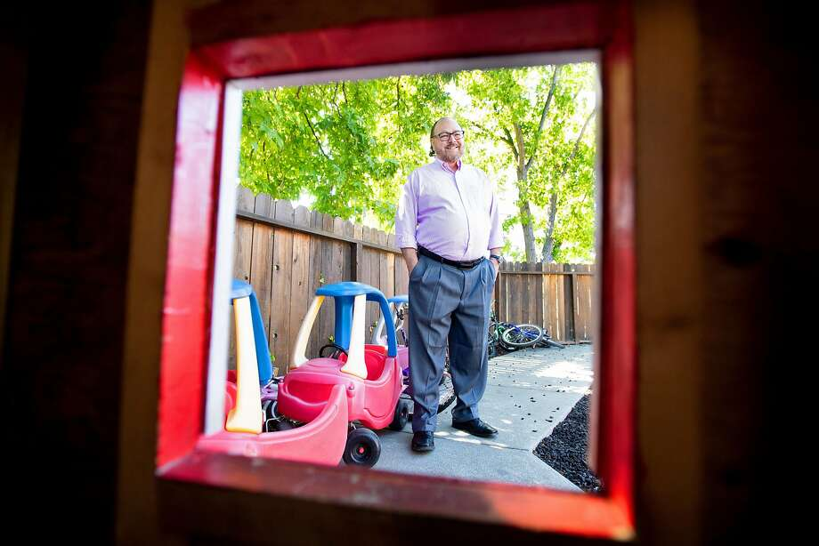 John Eckstrom, CEO of Shelter, Inc., stands for a portrait at Mountain View Emergency Family Shelter in Martinez, Calif., on Thursday, June 21, 2018. Photo: Noah Berger / Special To The Chronicle