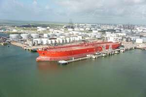 The FPMC C Melody was the first Very Large Crude Carrier to dock and take on crude oil in Texas City.