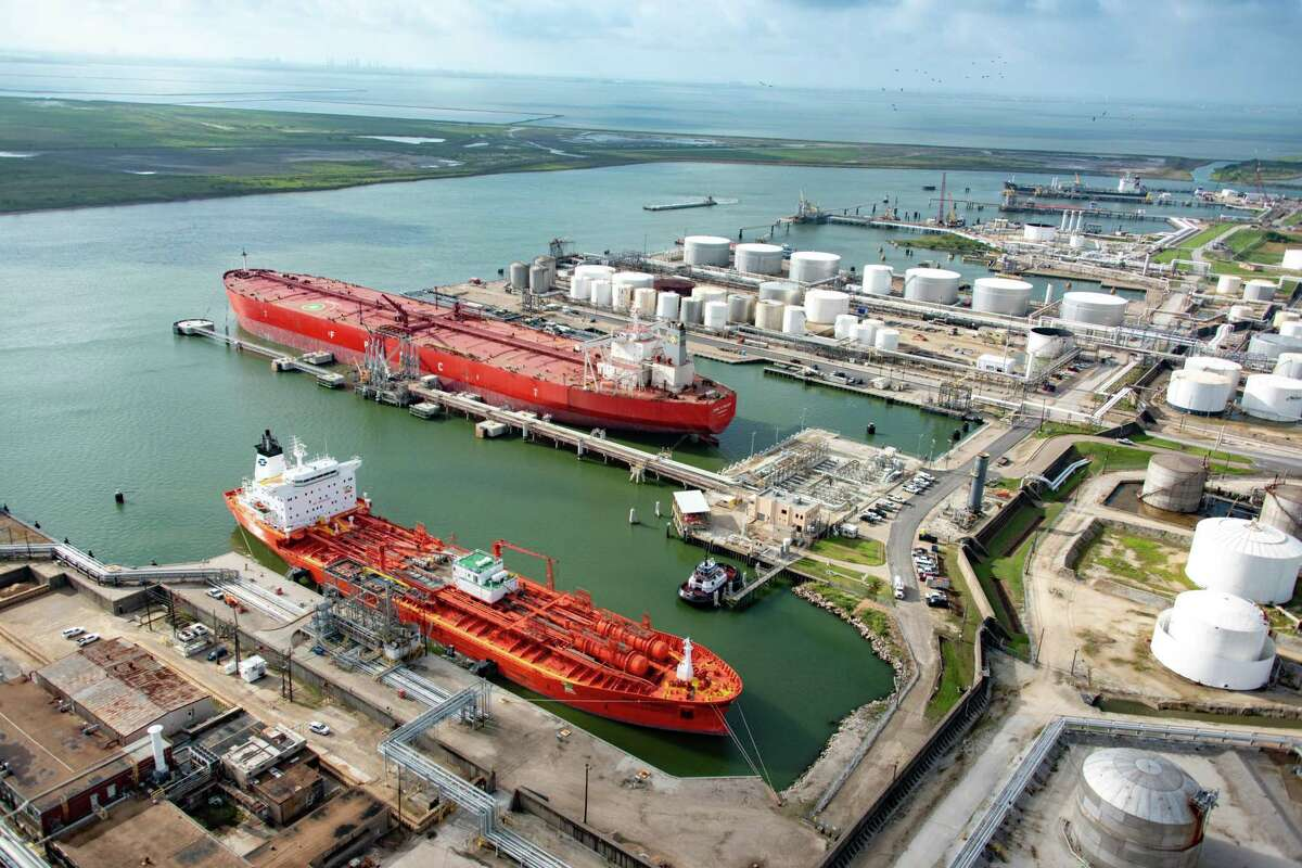 The FPMC C Melody is the first Very Large Crude Carrier to dock and take on crude oil in Texas City.