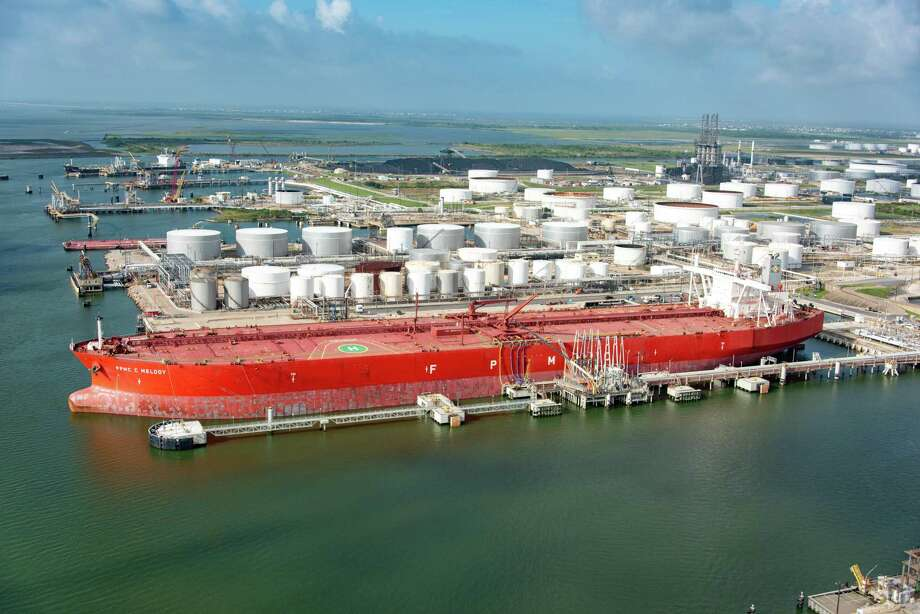 The FPMC C Melody was the first Very Large Crude Carrier to dock and take on crude oil in Texas City. The tanker can hold up to 2 million barrels of oil. Photo: Enterprise Products Partners L.P. / ENTERPRISE