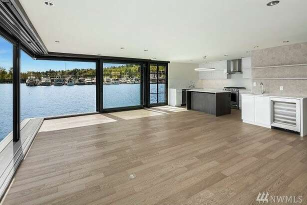 Rent this uber-luxe floating home on Portage Bay for $13.3K a month.