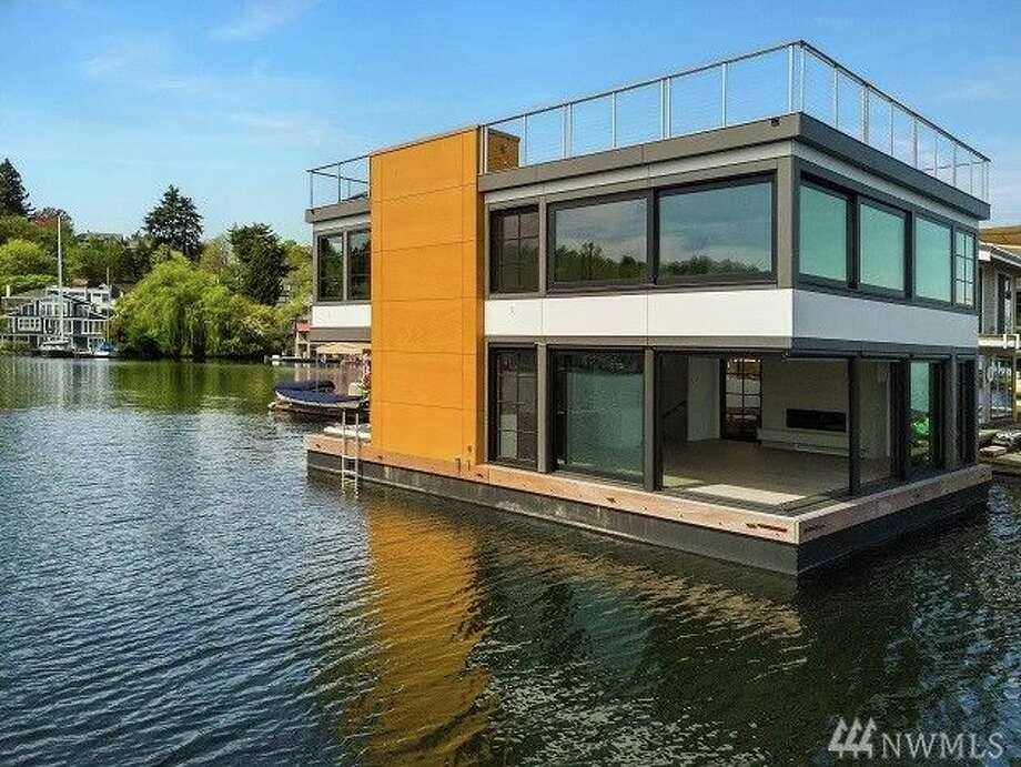 Rent this uber-luxe floating home on Portage Bay for $13.3K a month. Photo: Andrea Jacobi Windermere Property Management/ JMW