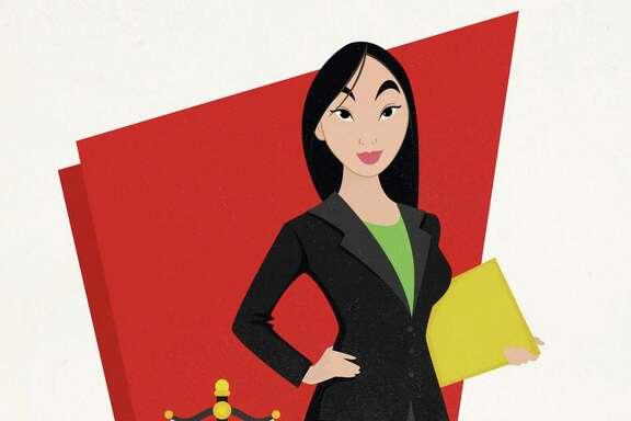 Graphic artist Matt Burt designed these Disney Princess images showing them in various professional careers.