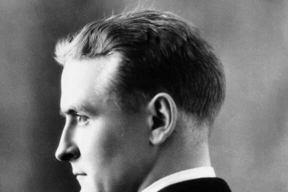 circa 1925:  Profile studio headshot portrait of American writer F Scott Fitzgerald (1896 - 1940).
