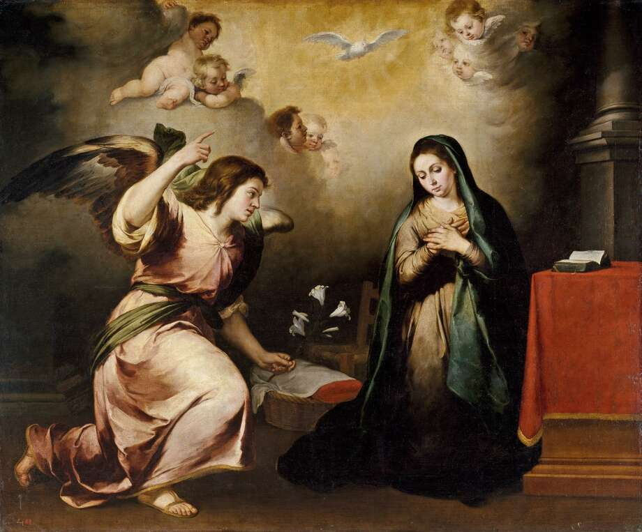 "Bank of America helped bring ""Spain: 500 Years of Spanish Painting from the Museums of Madrid"" — which includes Estebán Murillo's 1650 painting ""The Annunciation"" — to the San Antonio Museum of Art. Photo: Courtesy Museo Nacional Del Prado, Madrid"
