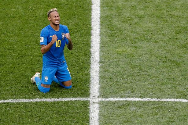 Neymar, tras el triunfo de Brasil sobre Costa Rica en el Mundial de Rusia. (AP / Michael Sohn)