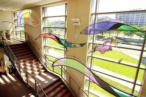 Joy Wulke installation Safe Travels into the Light at Bridgeport Juvenile Court in Bridgeport, Conn., June 21, 2018.