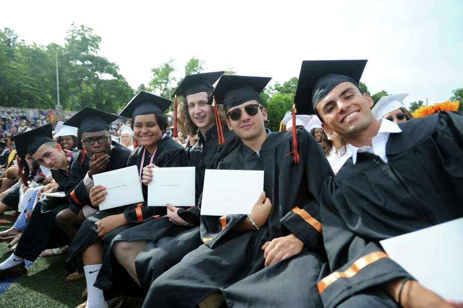 Photos from the Stamford High School class of 2018 commencement ceremony in Stamford High School's Boyle Stadium on Friday, June 22, 2018. Photo: Michael Cummo, Hearst Connecticut Media / Stamford Advocate