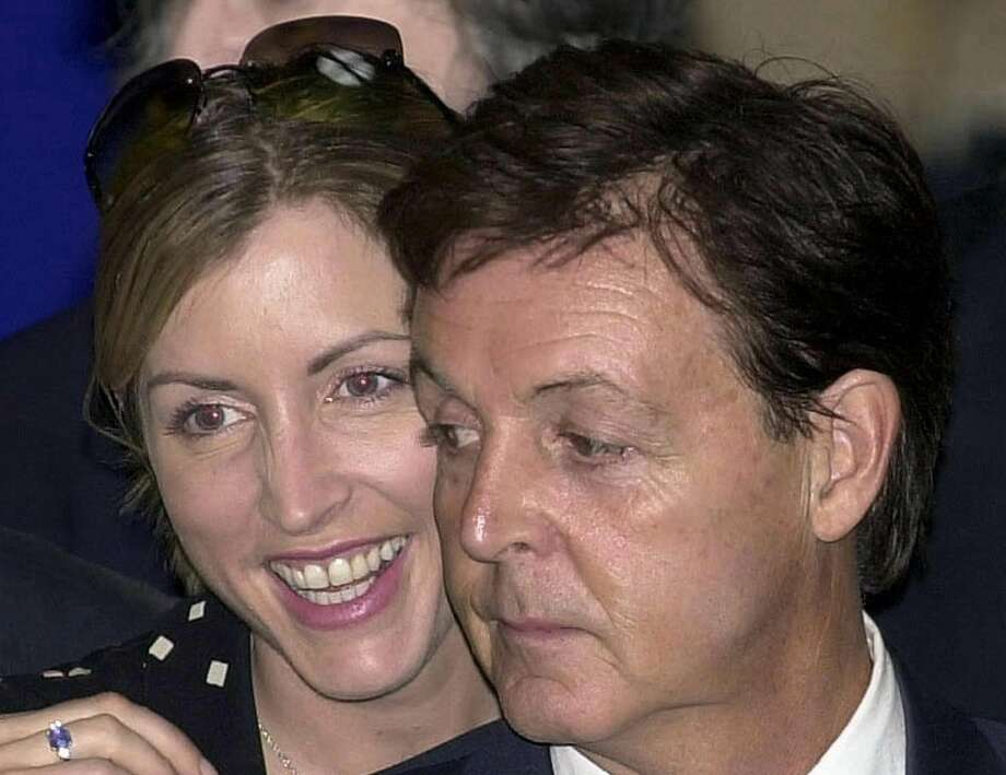 Paul McCartney at age 64, in 2002, with Heather Mills. Photo: AFP / Getty Images