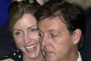 Paul McCartney at age 64, in 2002, with Heather Mills.
